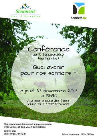 Stoumont-Sentiers-conférence 23 nov 2017