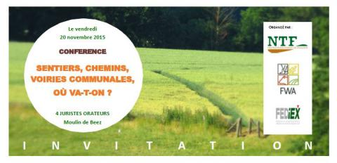 Conférence Sentiers, chemins, voiries communales, où va-t-on ?