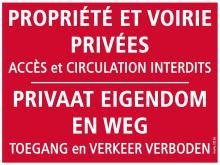 Panneaux Propriété privée - accès interdit
