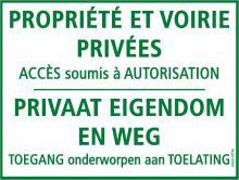 Panneaux propriété privée - accès interdit - NL
