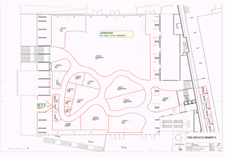 Libramont 2014 plan Hall 3 & stand NTF