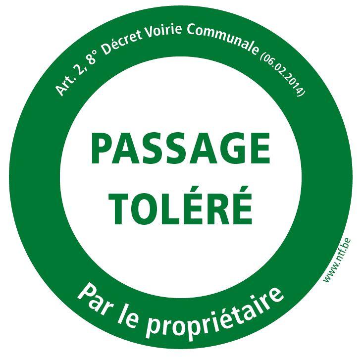 Panneau Passage toléré par le propriétaire