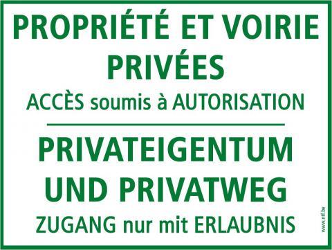 Panneau Propriété privée - accès soumis à autorisation