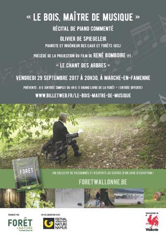 Affiche récital piano Olivier de Spiegeleir