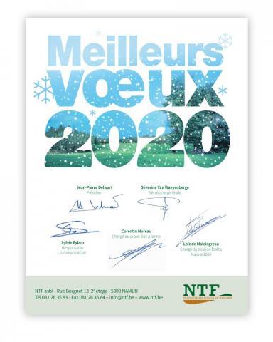 Toute l'équipe de NTF vous adresse ses Meilleurs Voeux pour 2020 !